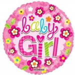 "BABY GIRL BALLOON 18""  19579-18"